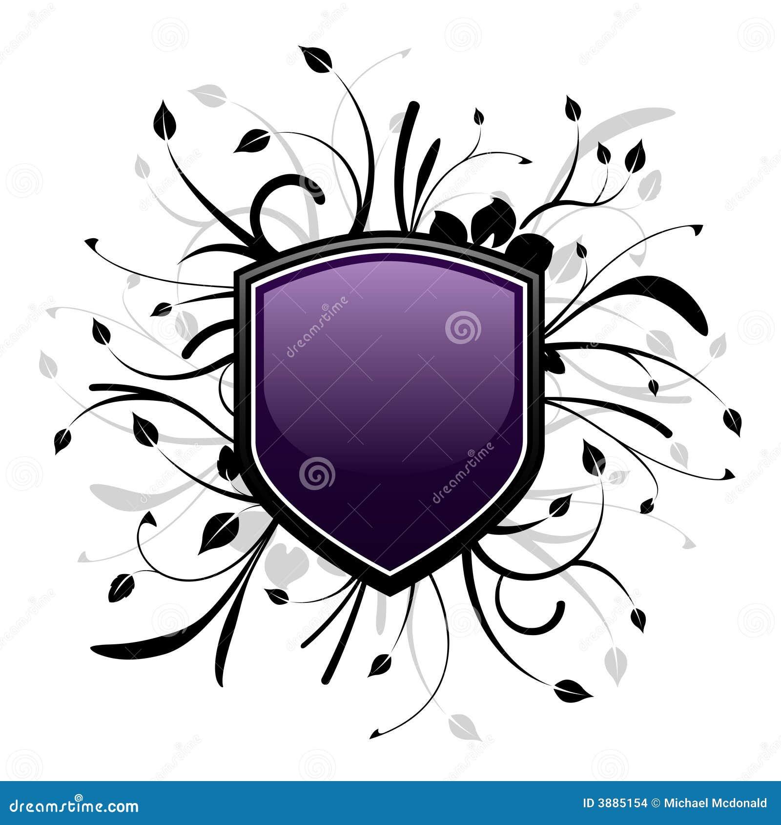 Emblema viola e nero dello schermo