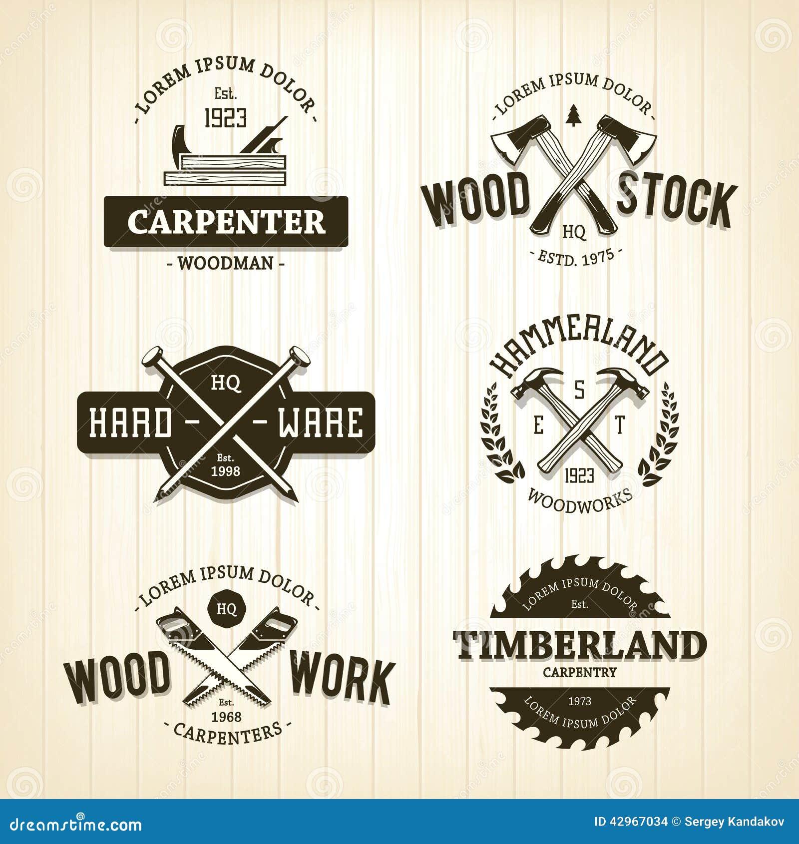 Emblemas de la carpintería del vintage