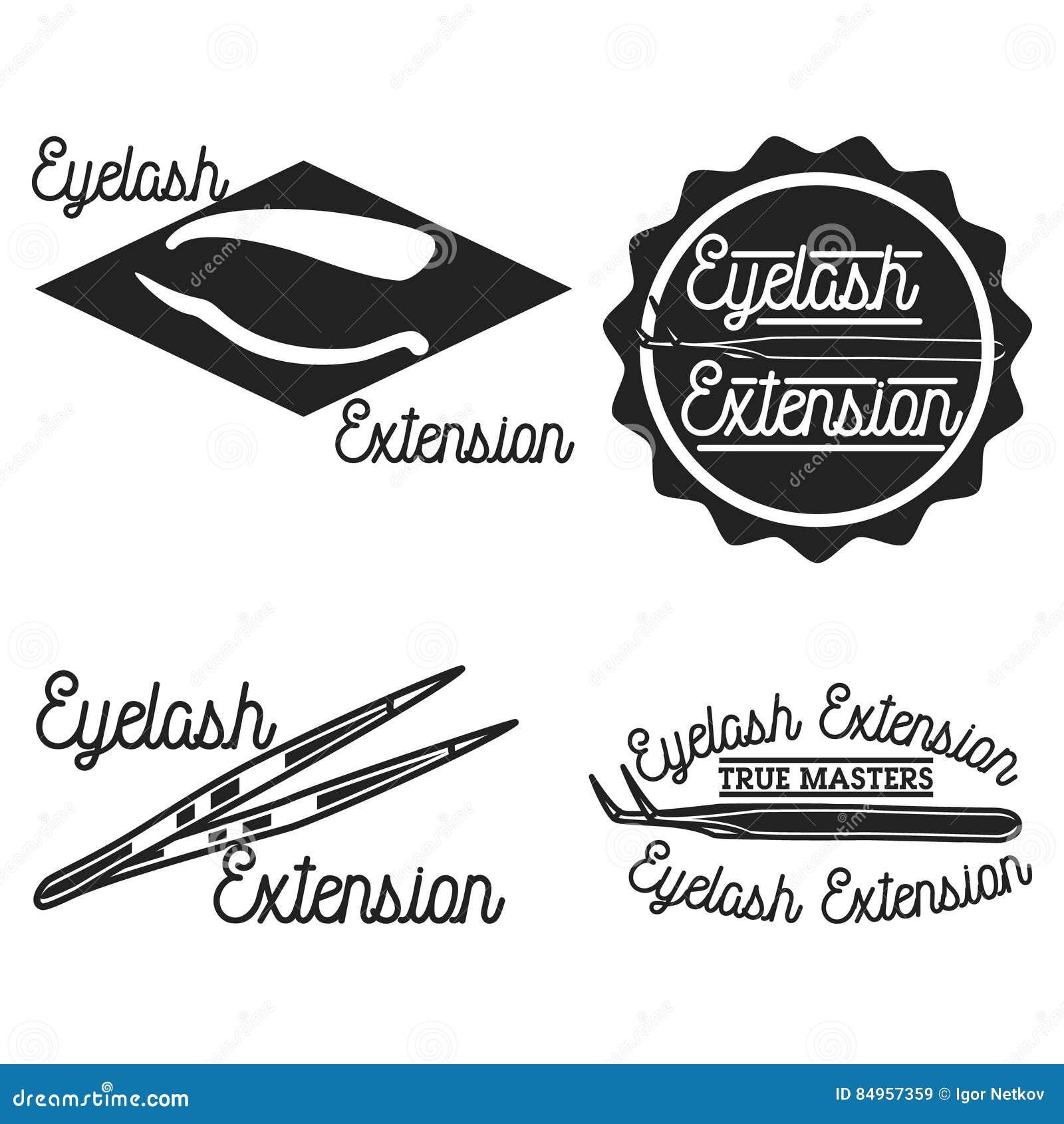 Emblemas de la extensión de la pestaña del vintage