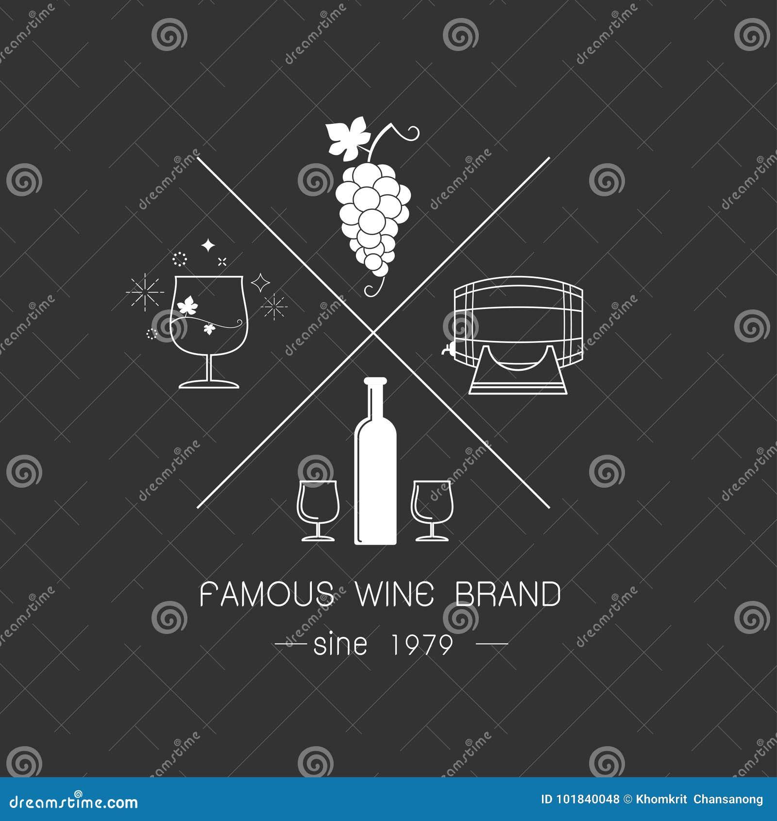 Emblemas e logotipos do vinho
