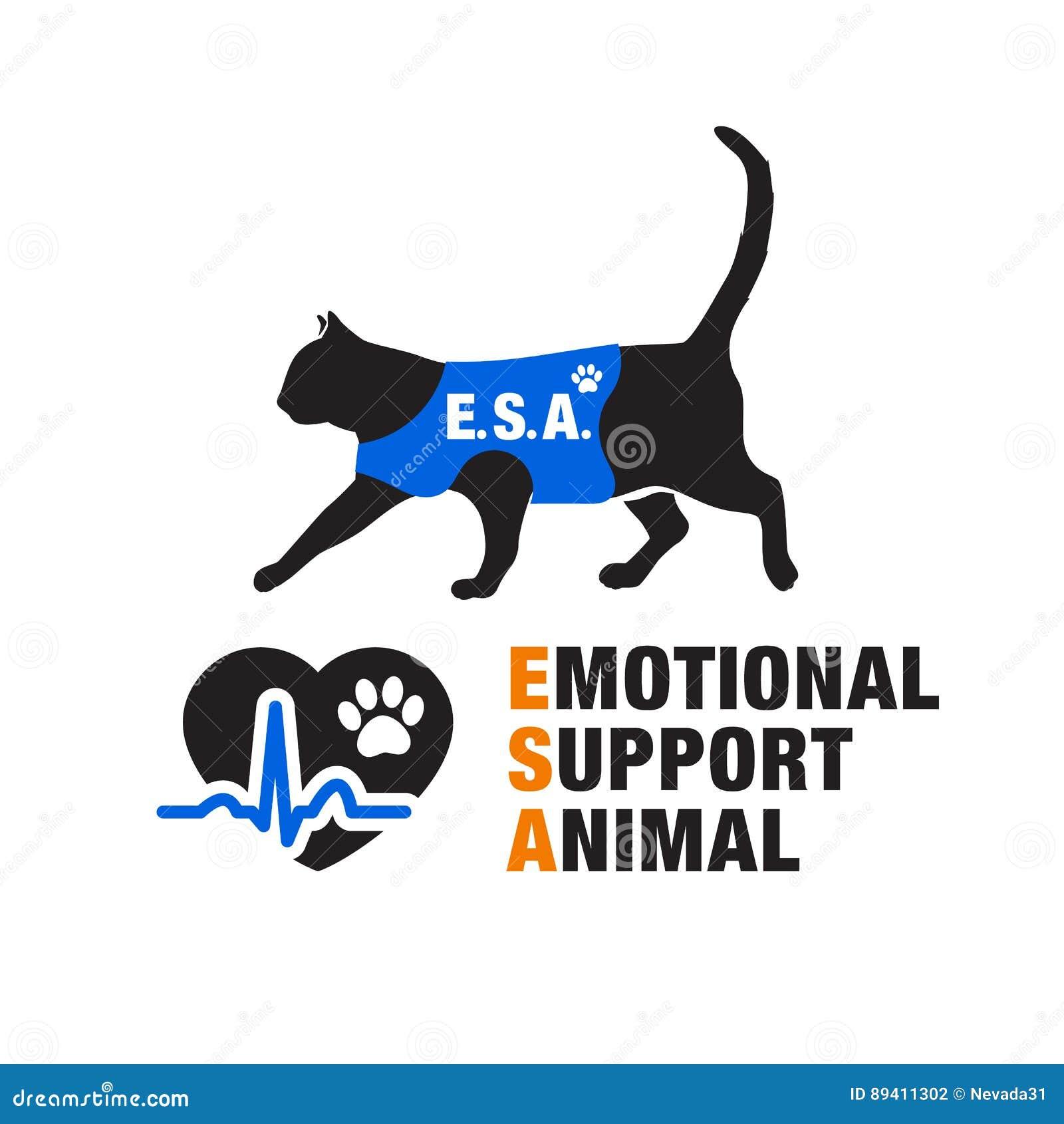 Emblemas emocionais do animal do apoio
