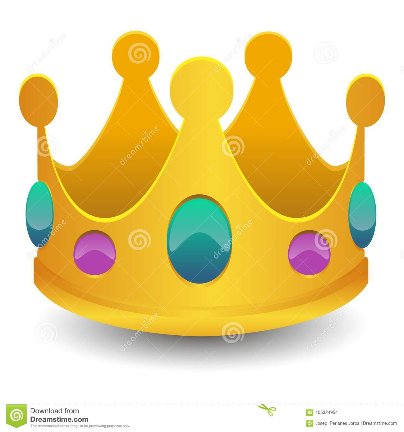 King crown emoji vector art 3d effect chat icon symbol stock king crown emoji vector art 3d effect chat icon symbol biocorpaavc Gallery