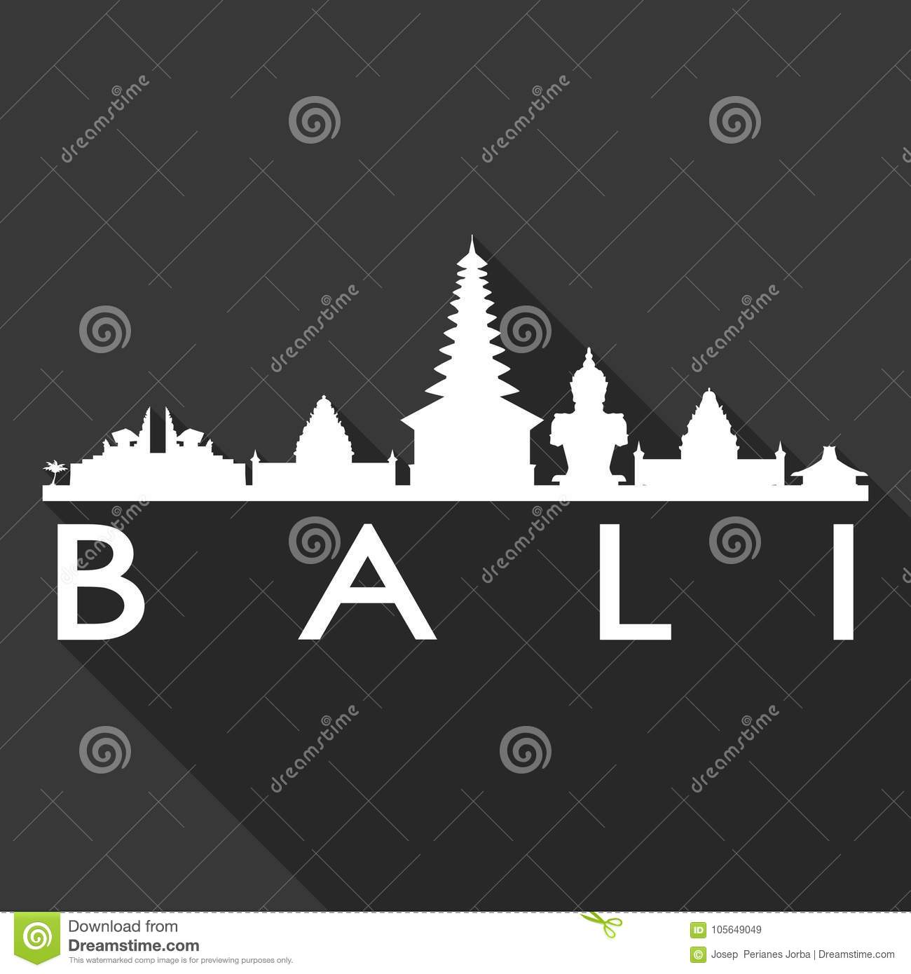 Royalty Free Vector Download Bali Indonesia Asia Icon