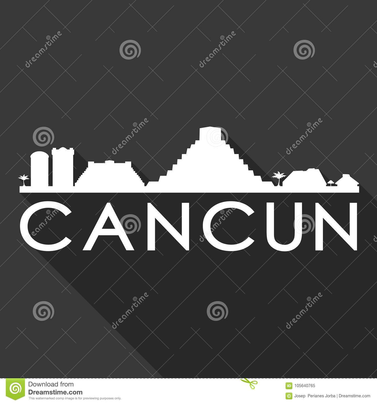 Cancun Mexico North America Icon Vector Art Flat Shadow Design