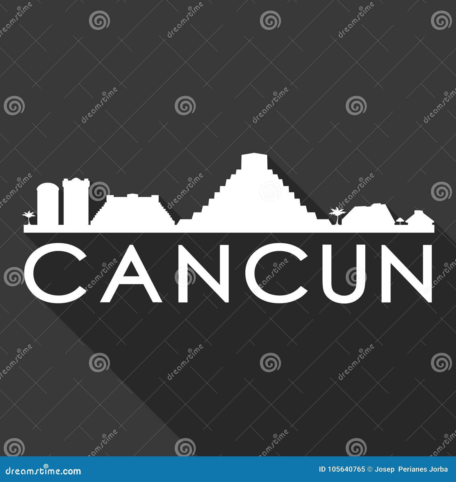 Cancun Mexico North America Icon Vector Art Flat Shadow Design