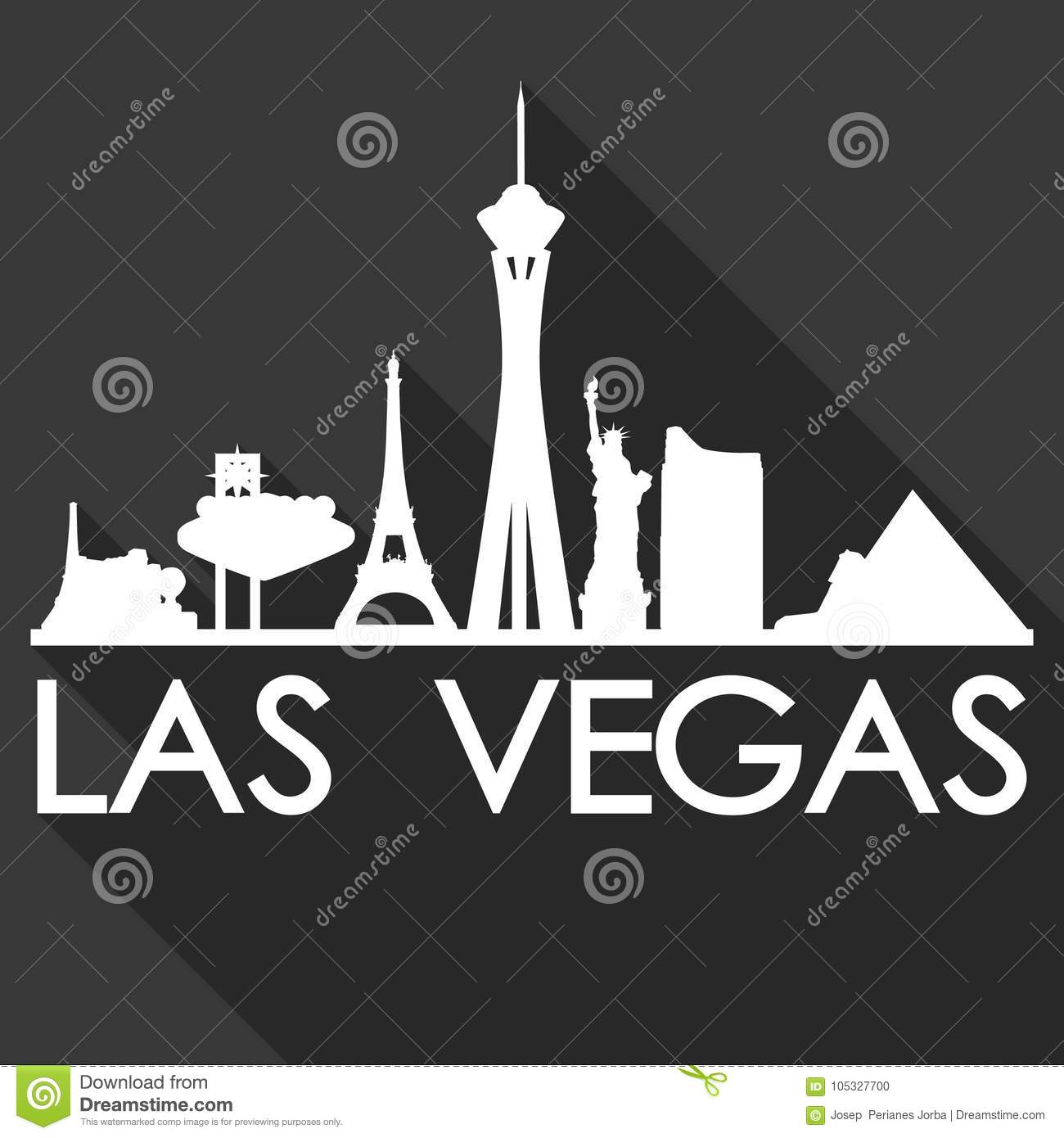 Las Vegas Nevada United States Of America USA Icon Vector Art Flat ...