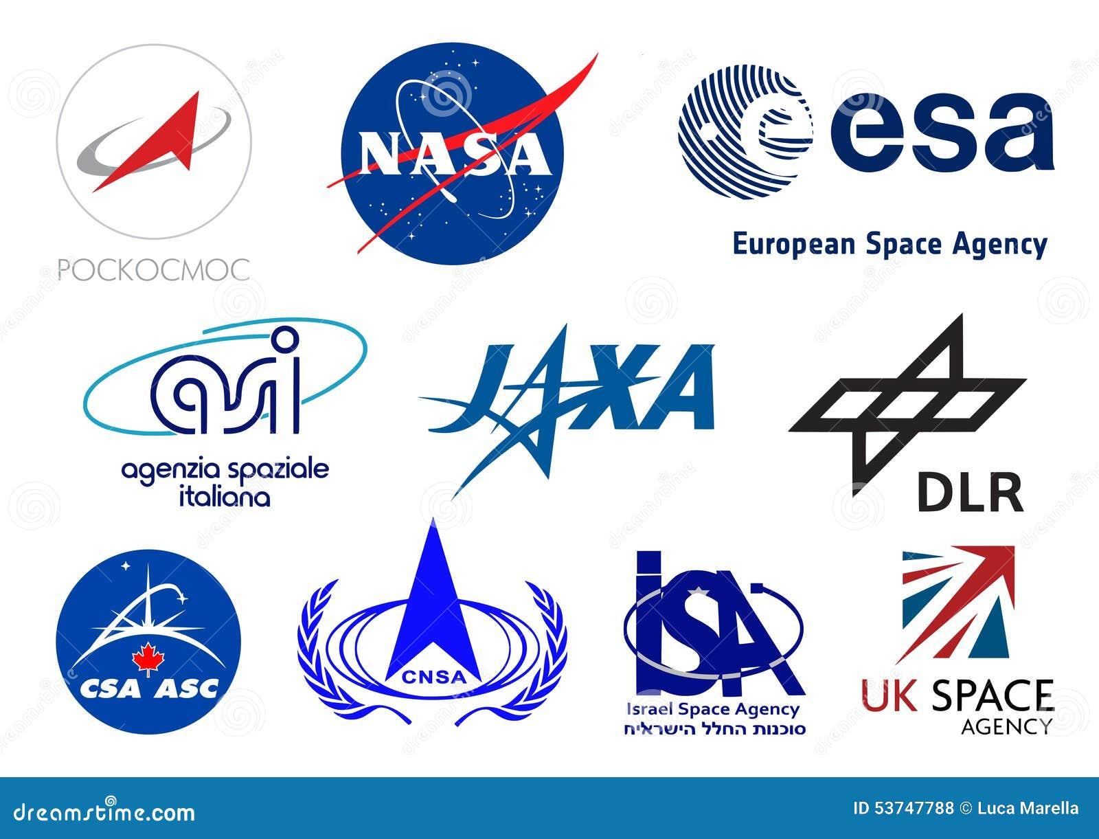 Emblemen van wereld de ruimteagentschappen