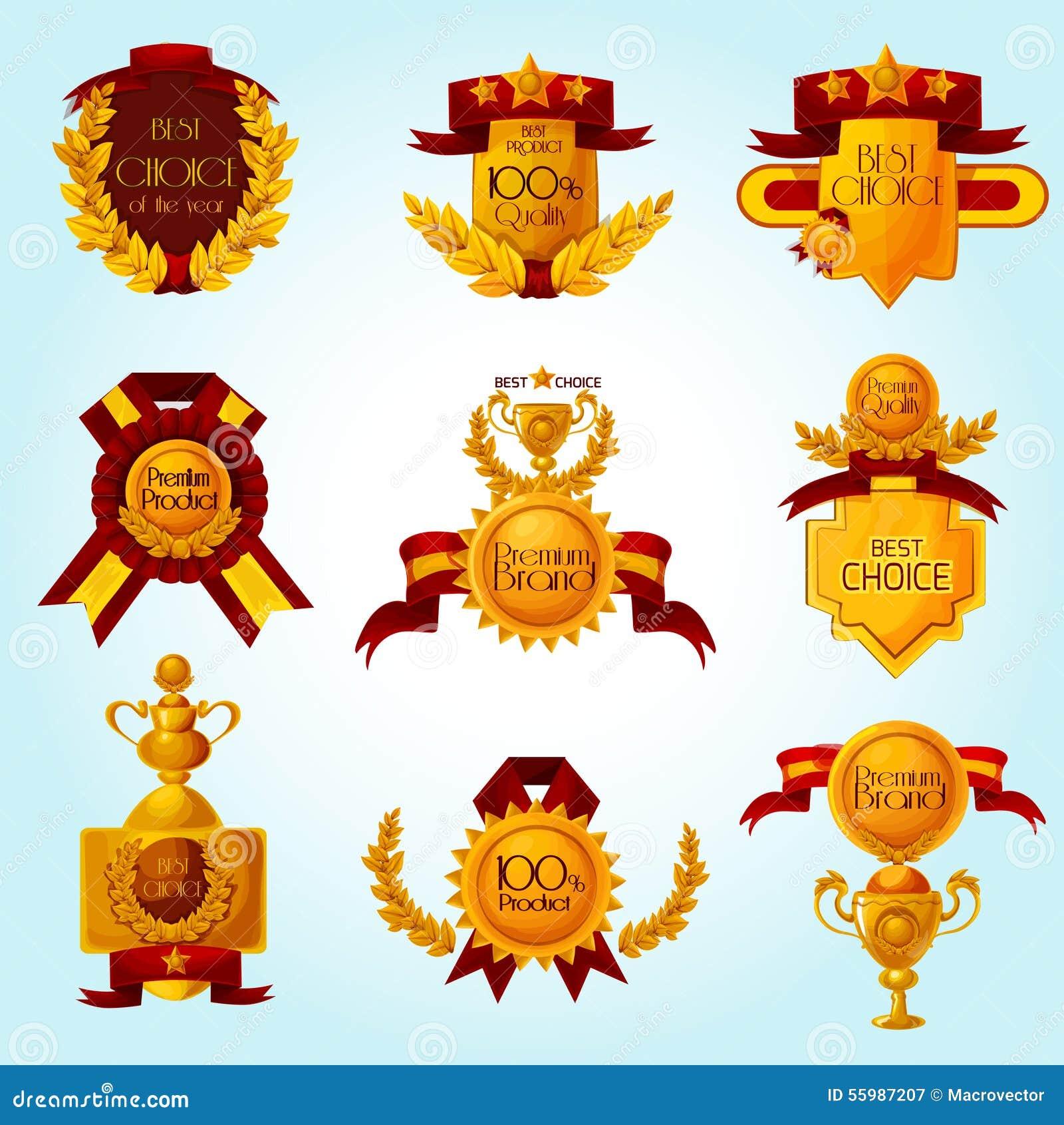 Emblemi di vendita del premio