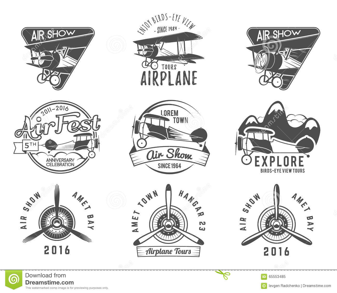 Vintage Avion Banque DImages, Vecteurs Et Illustrations