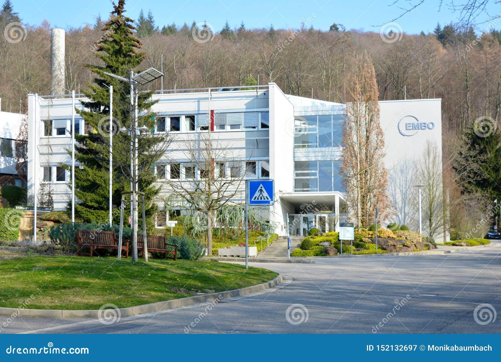 EMBO Heidelberg - den europeiska för organisationslaboratorium för molekylär biologi byggnaden