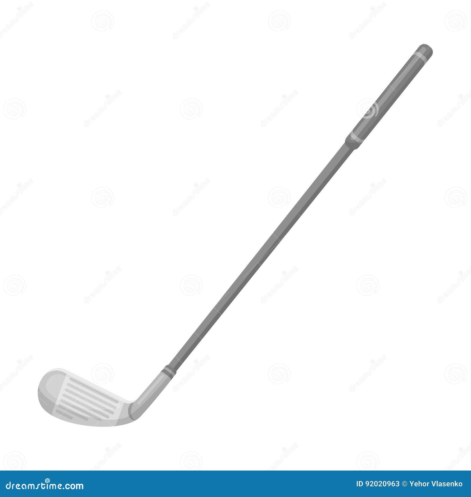 Embocador para o golfe Ícone do clube de golfe único na Web monocromática da ilustração do estoque do símbolo do vetor do estilo