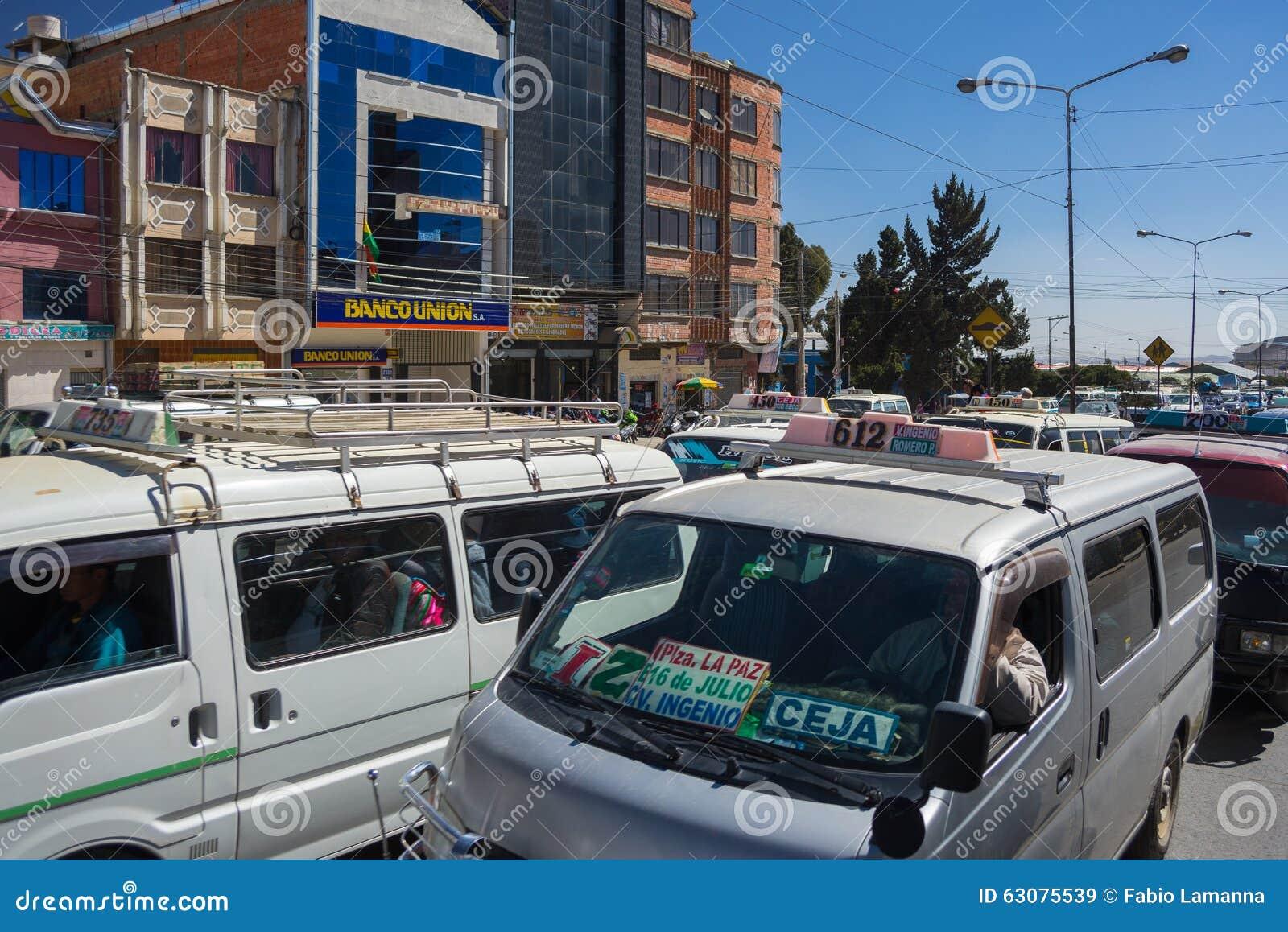 Download Embouteillage Dans Les Rues De La Paz, Bolivie Image stock éditorial - Image du bottleneck, people: 63075539