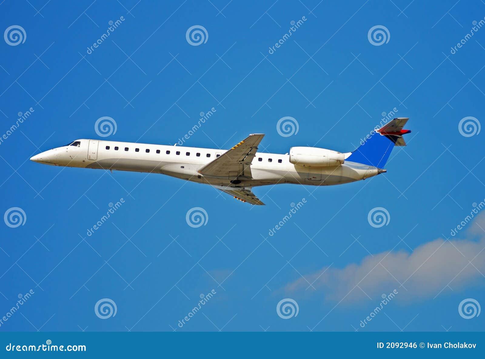Embraer regional jet stock photo  Image of regional, flight