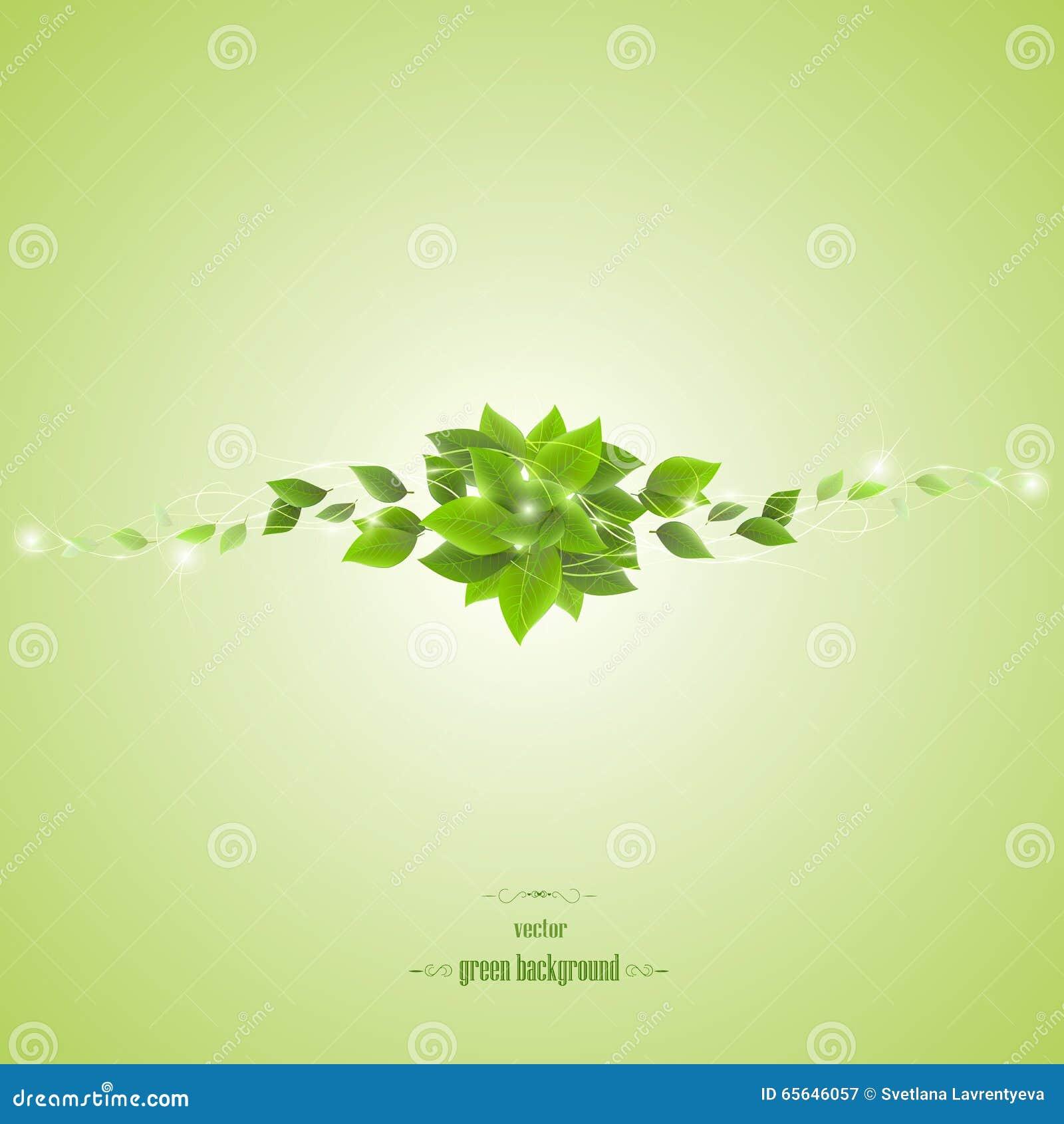 Embranchez-vous avec les feuilles et la lumière vertes, vecteur