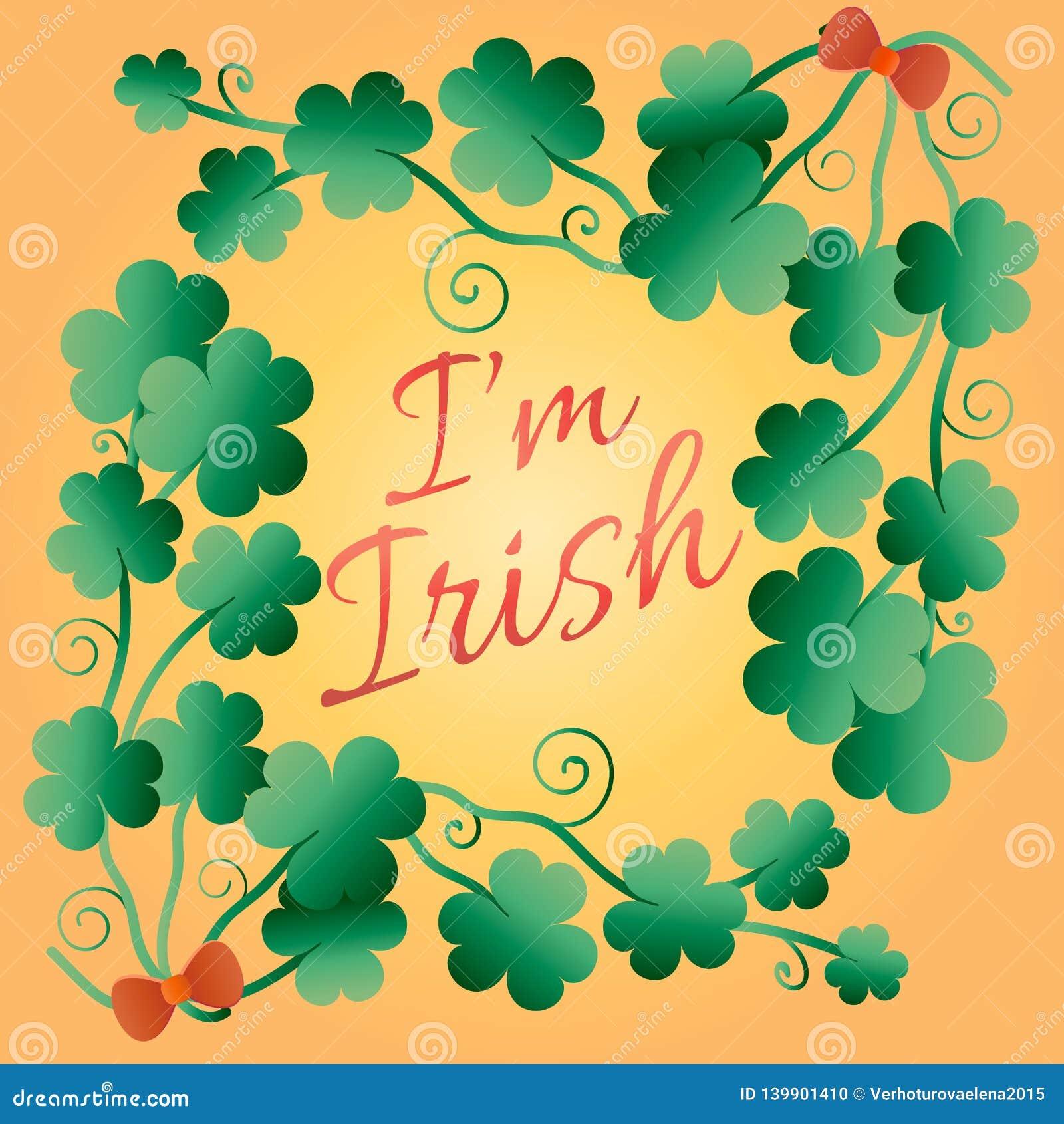 Embrassez-moi, je suis irlandais Affiche typographique de style pour le jour du ` s de St Patrick Inscription de la conception de