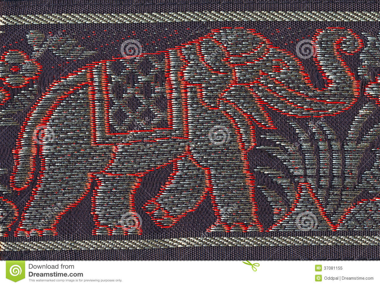 Embroidered Elephant Royalty Free Stock Photo Image