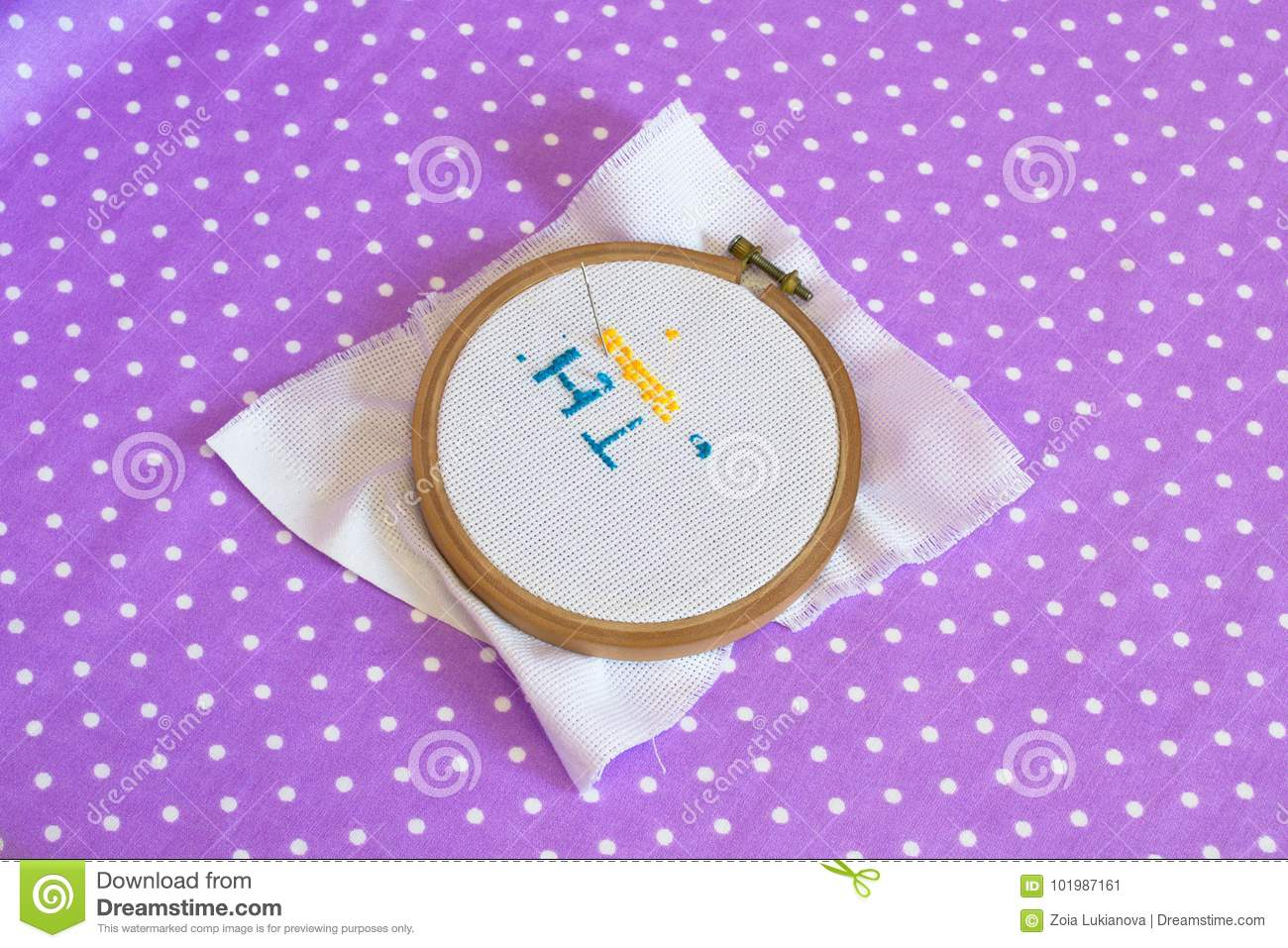 The Embroidery Hoop With Canvas Print The Needle Child To Learn To