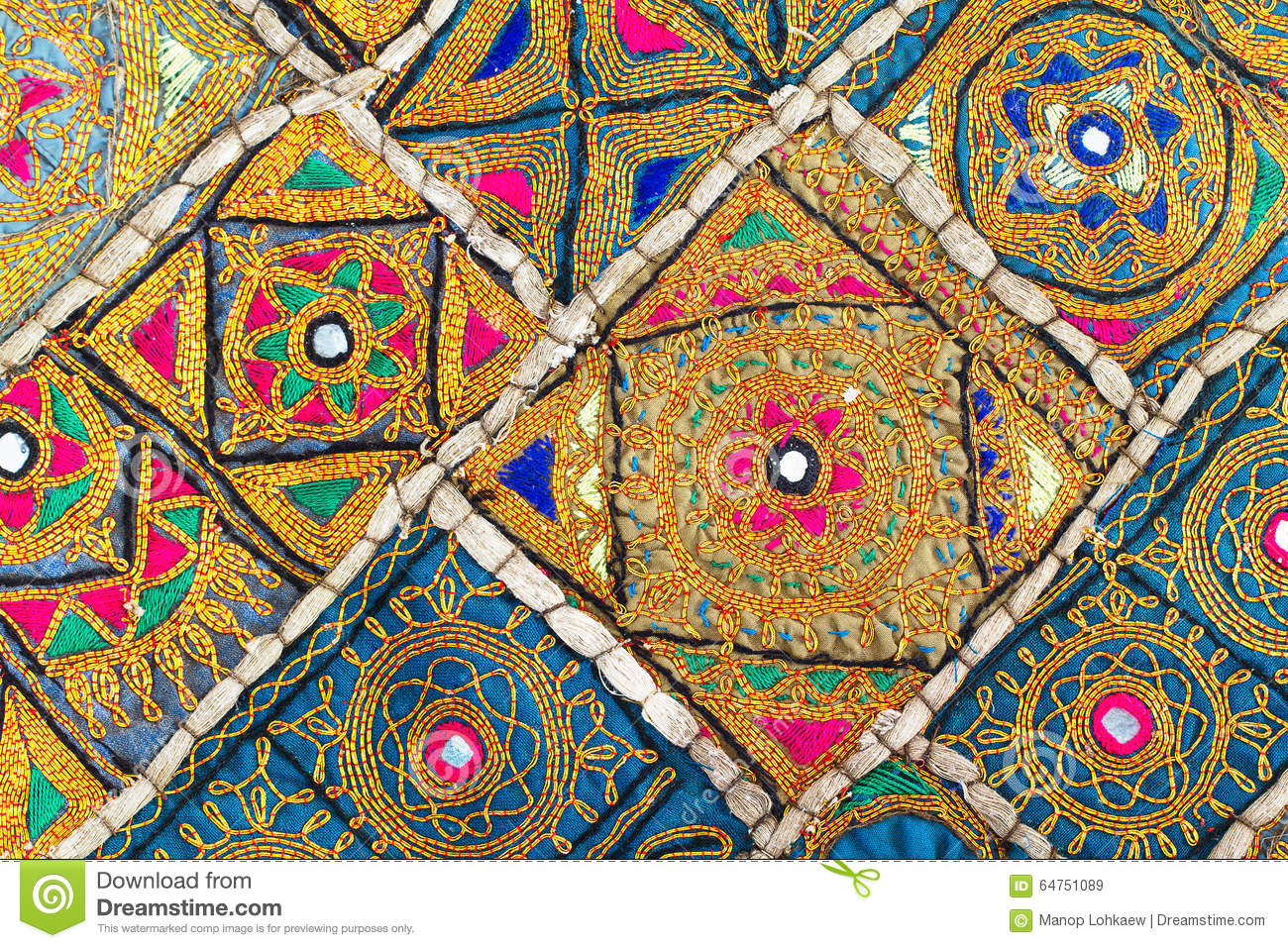 Embroidery Cloth Background Stock Image Image Of Design Beautiful