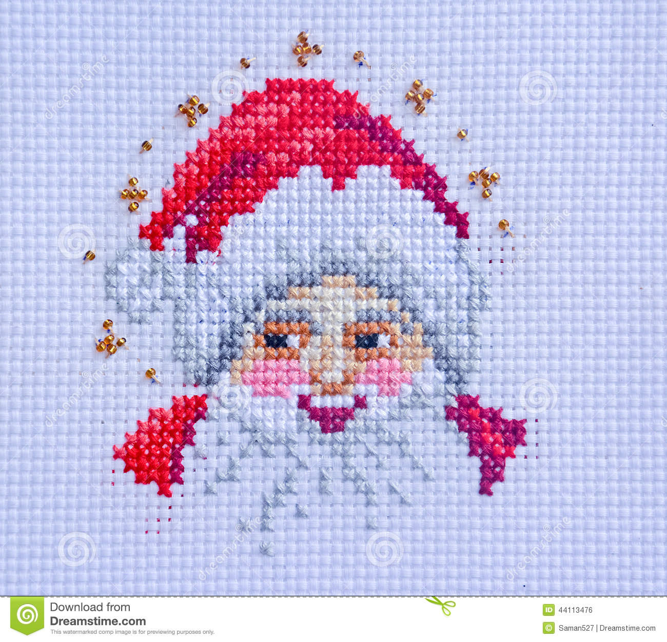 Embroidery And Cross-Stitch Design Stock Photo - Image 44113476