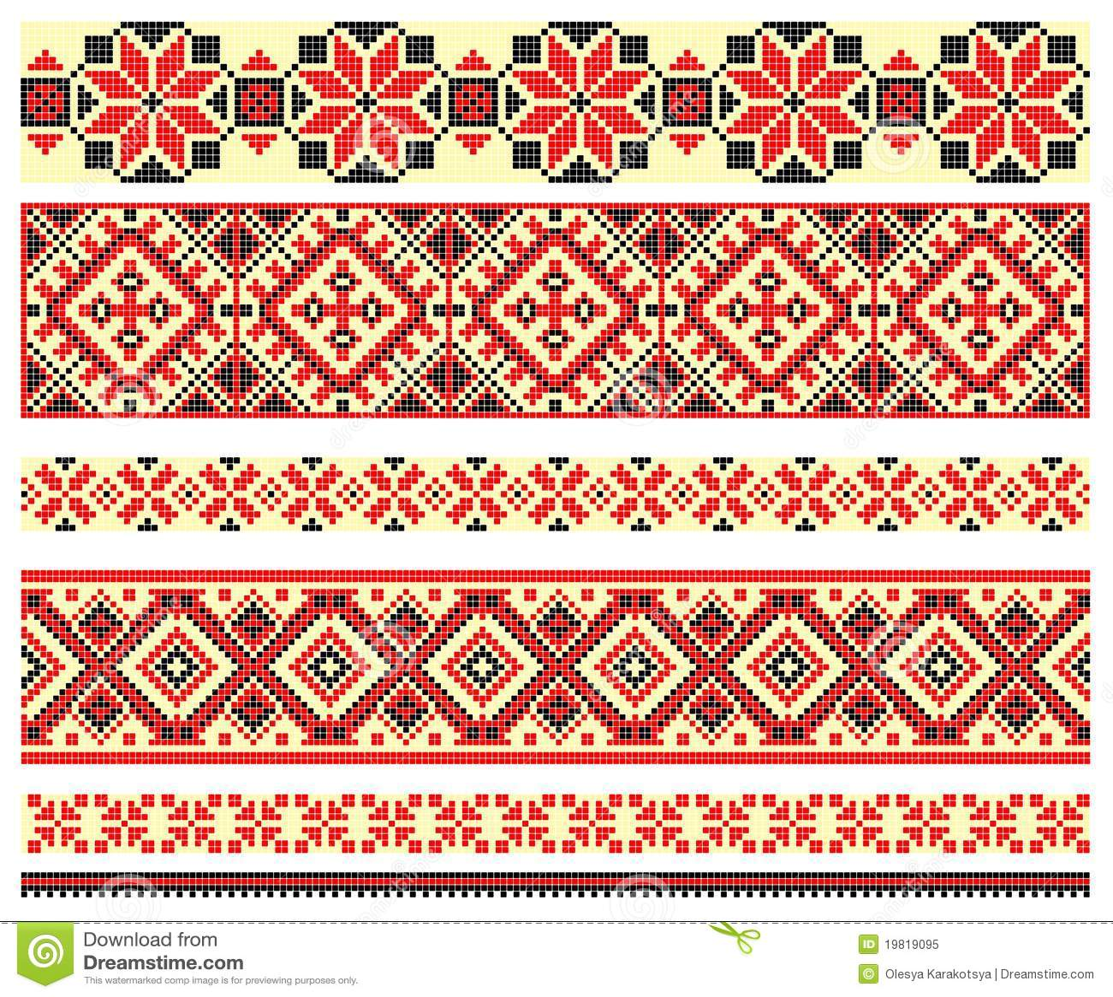 Embroidery cross stitch patterns makaroka embroidery crossstitch pattern royalty free stock photo bankloansurffo Gallery