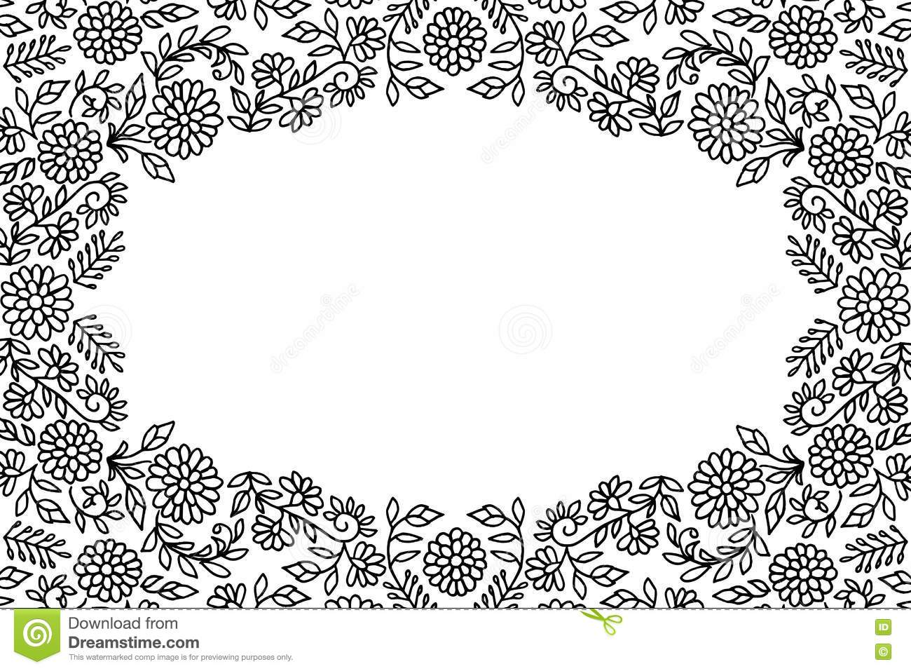 Embroidery flower frame stock vector image of drawing 80972492 embroidery flower frame bankloansurffo Images
