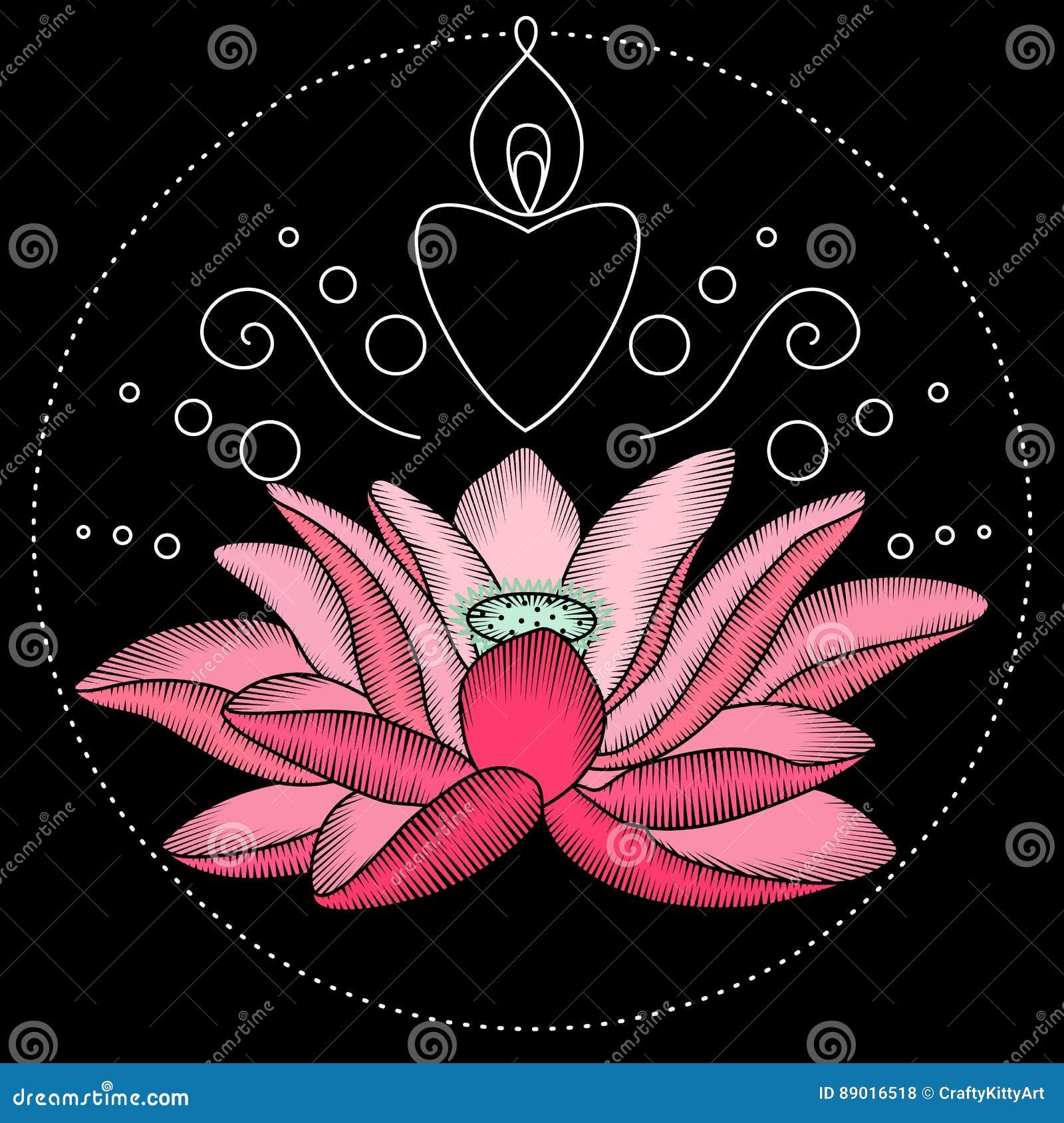 Embroidery lotus fabric design stock vector illustration of ethnic download embroidery lotus fabric design stock vector illustration of ethnic illustration 89016518 izmirmasajfo