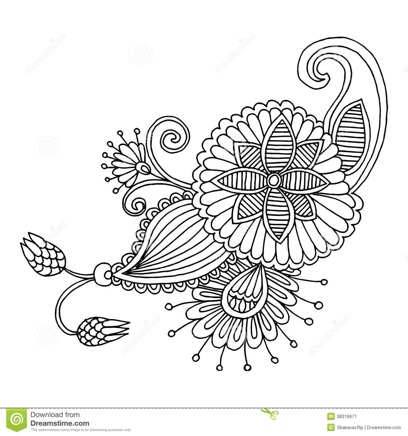 Embroidery pattern stock vector. Illustration of flores - 38319971
