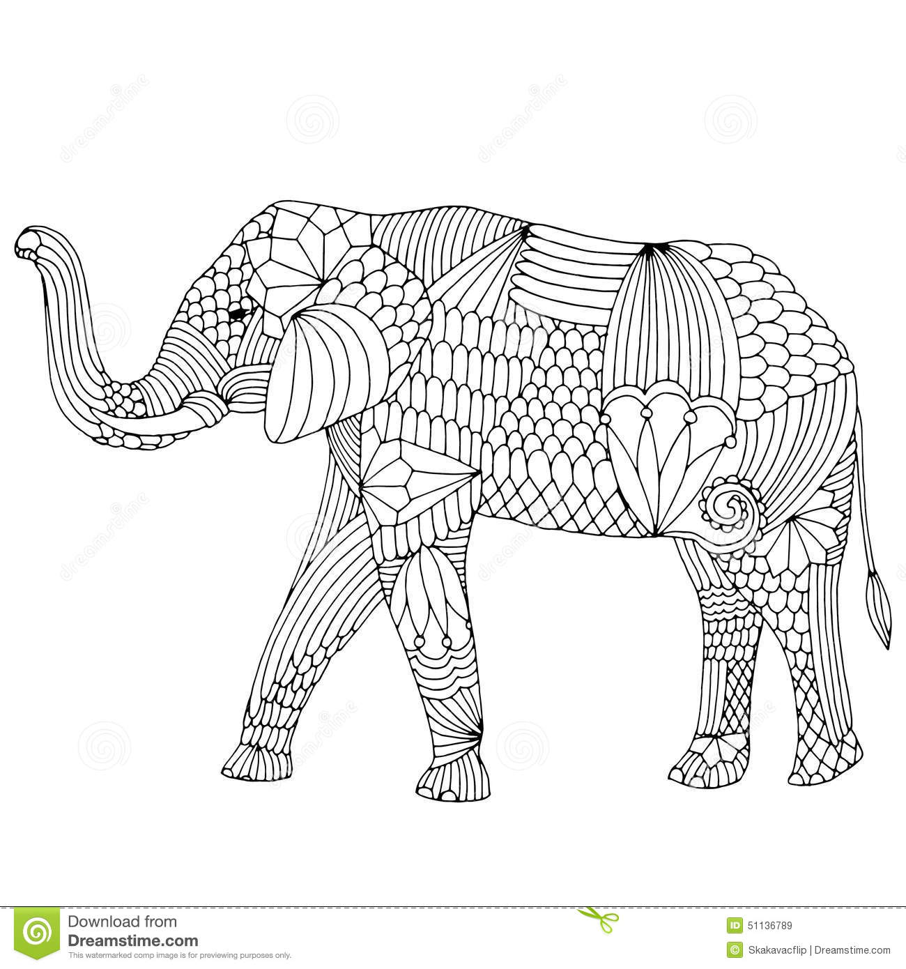 Embroidery Pattern Elephant Stock Illustrations – 66 Embroidery ...