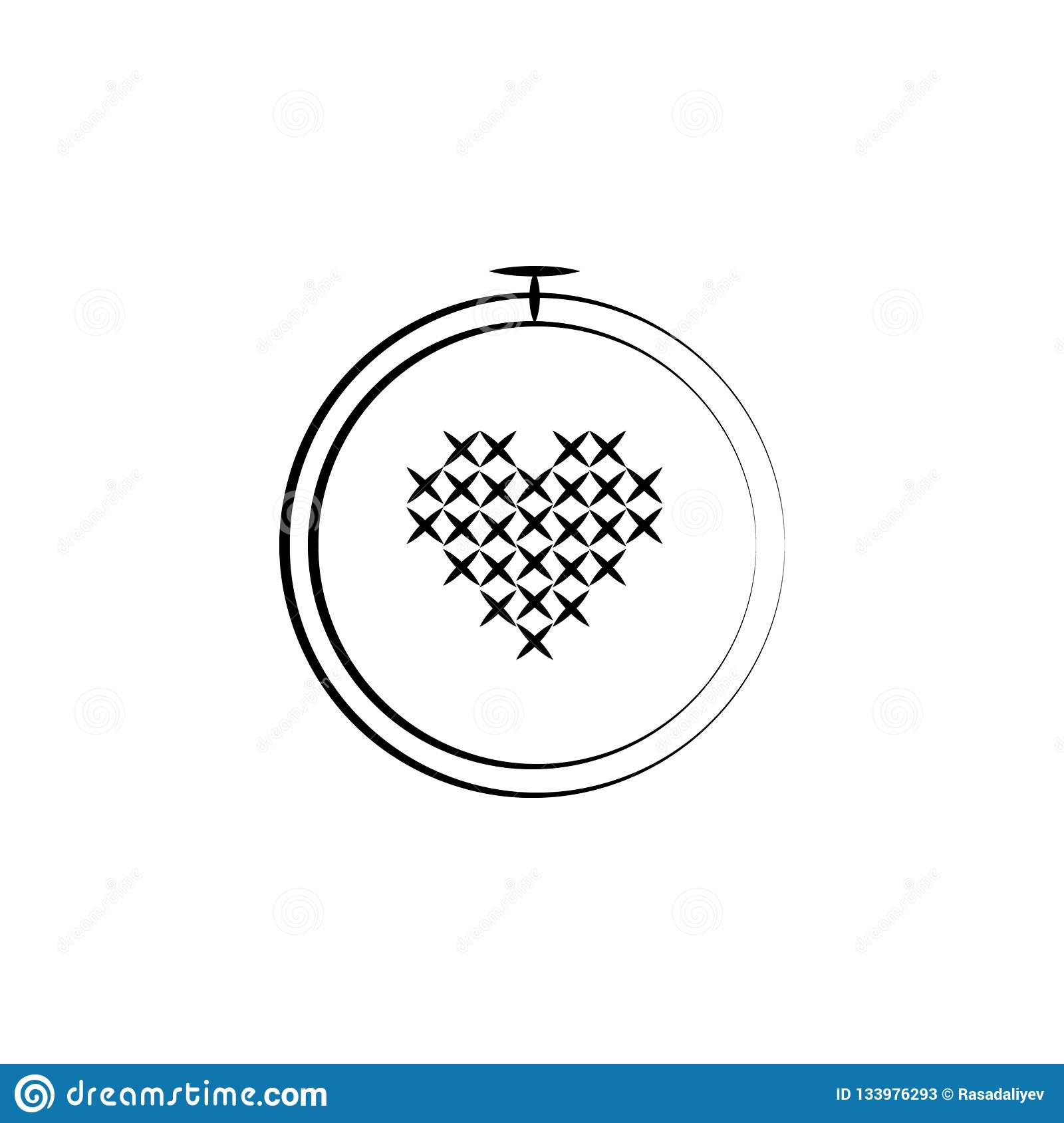 Embroidery Sew Icon Element Of Art And Craft Icon Thin Line Icon