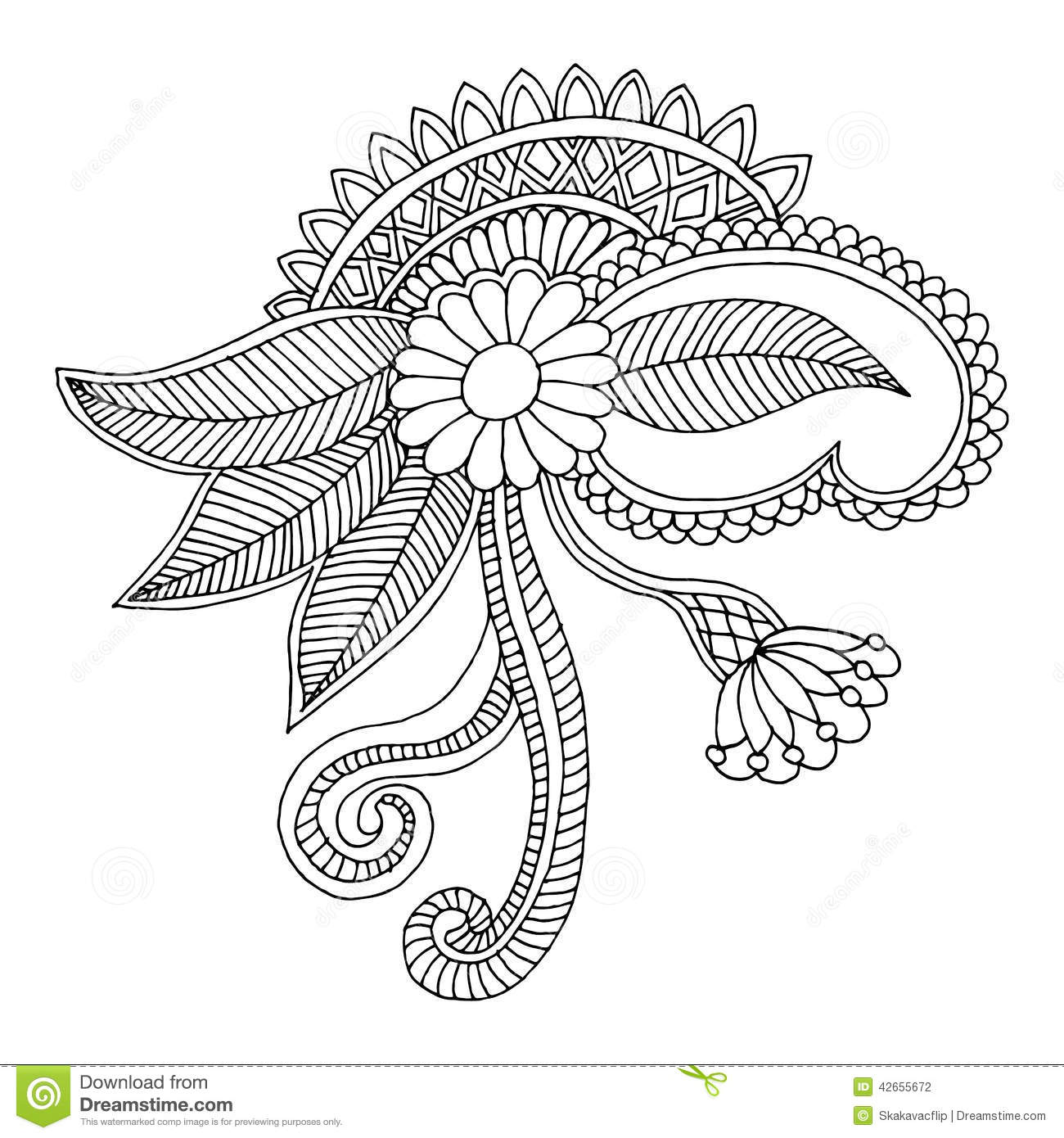 Embroidery Square Pattern Design Stock Illustration - Illustration ...