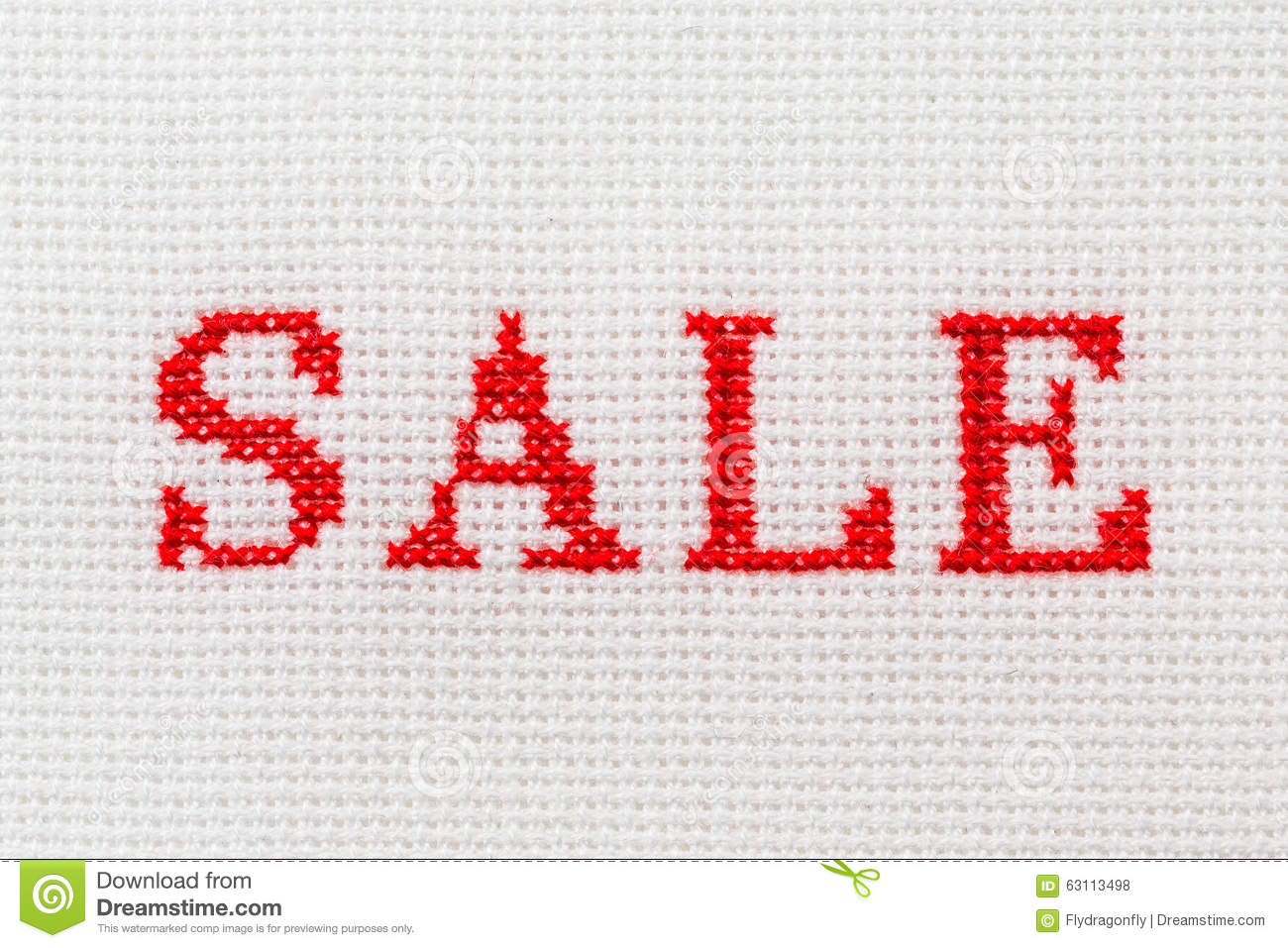 Embroidery word sale cross stitch stock photo image