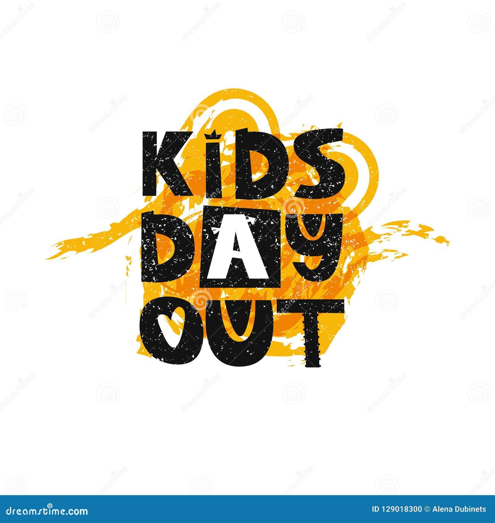 Embroma el día hacia fuera que pone letras Cartel lindo de los niños