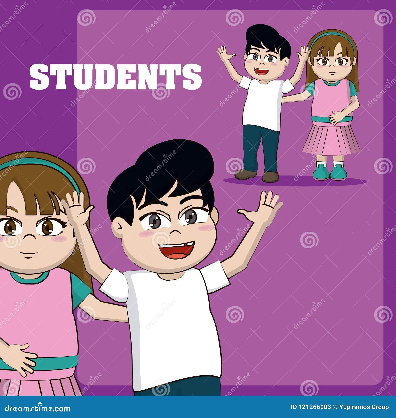 Embroma historietas de los estudiantes