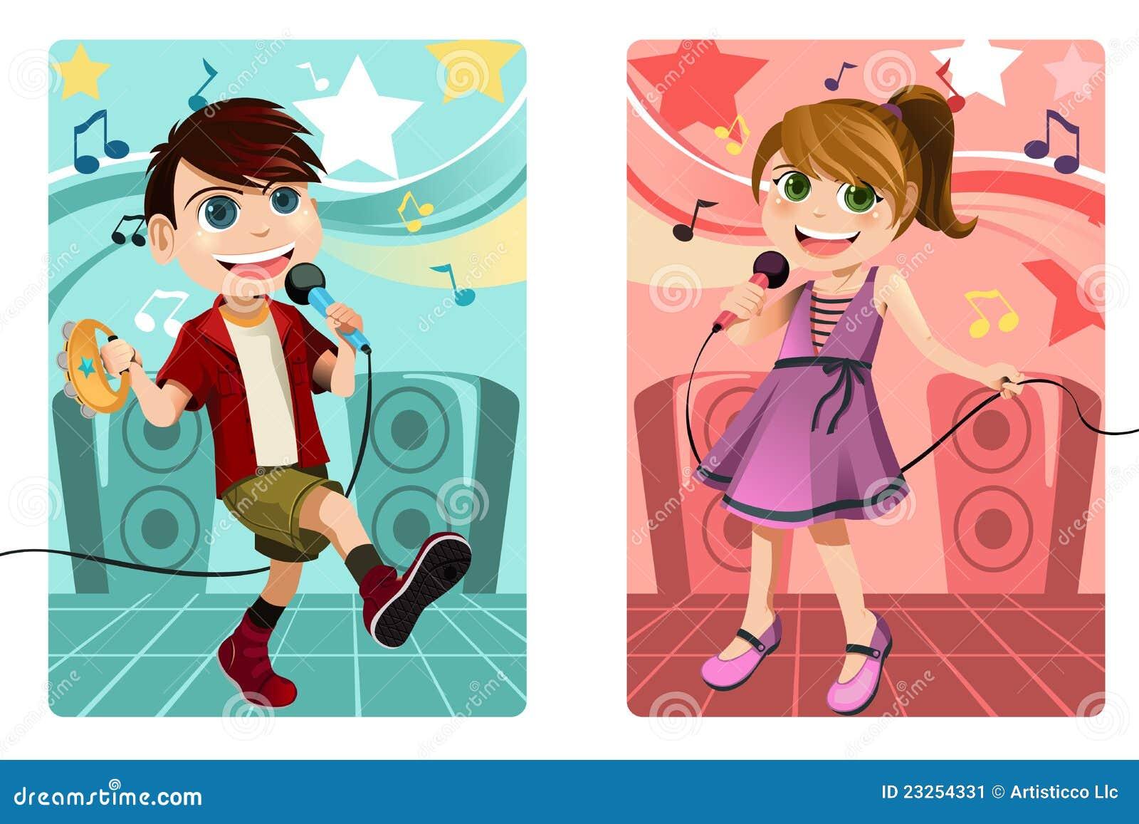 Embroma Karaoke del canto ilustración del vector