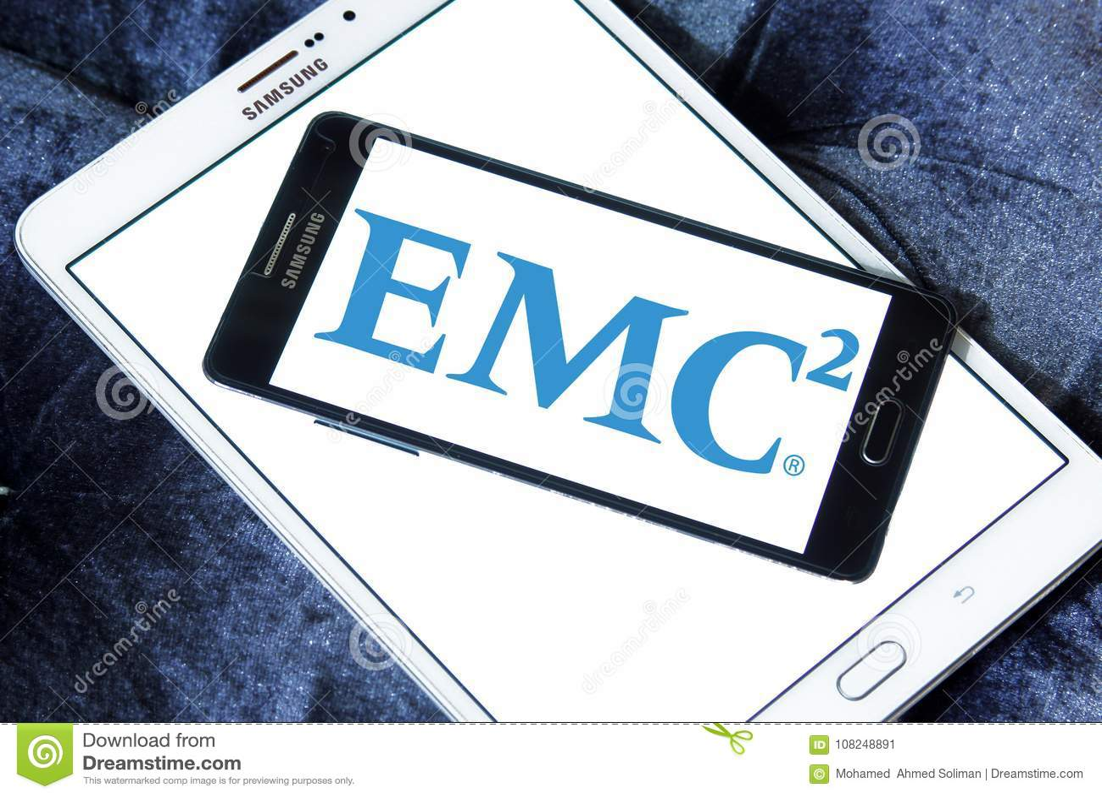 Emc2 Data Storage Company Logo Editorial Photo Illustration Of