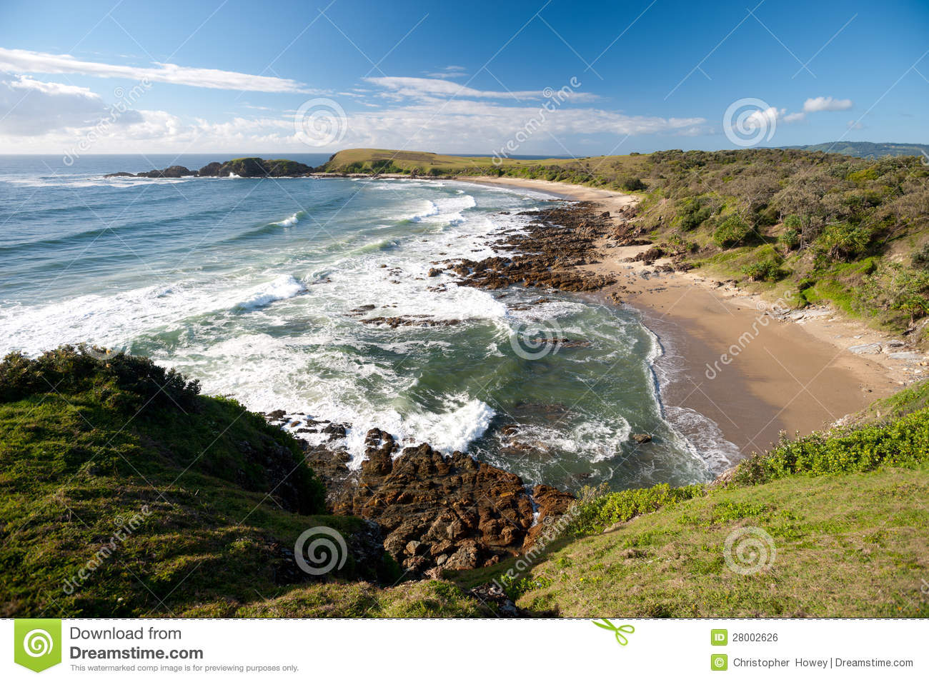 Emerald Australia  city photos : Emerald Beach In Australia Royalty Free Stock Image Image: 28002626