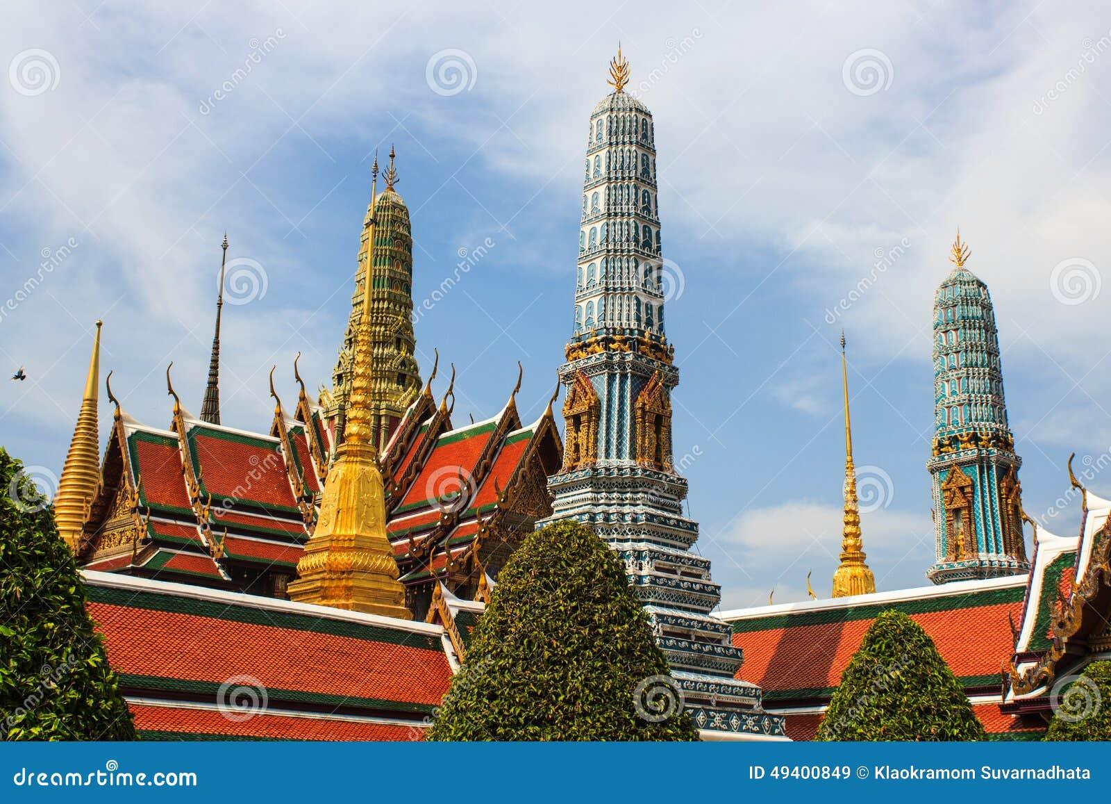 Download Emerald Buddha Temple, Wat Pra Kaew Stockbild - Bild von gold, kunst: 49400849