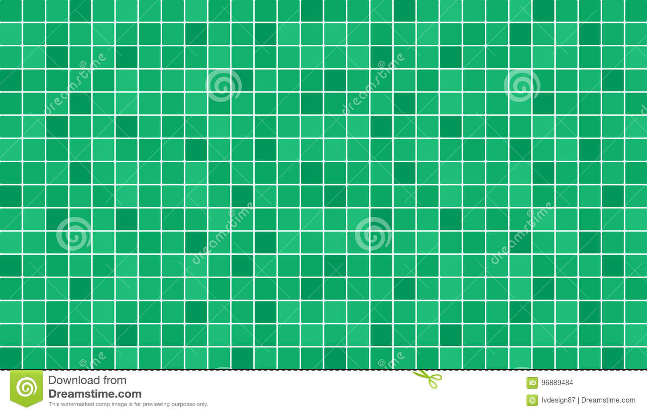 Emerald Green Ceramic Floor And Wall Tiles. Abstract Vector ...