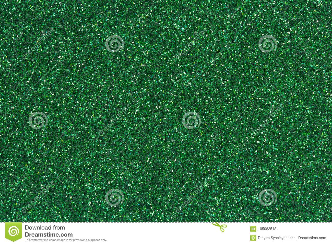 Emerald green glitter texture or background.