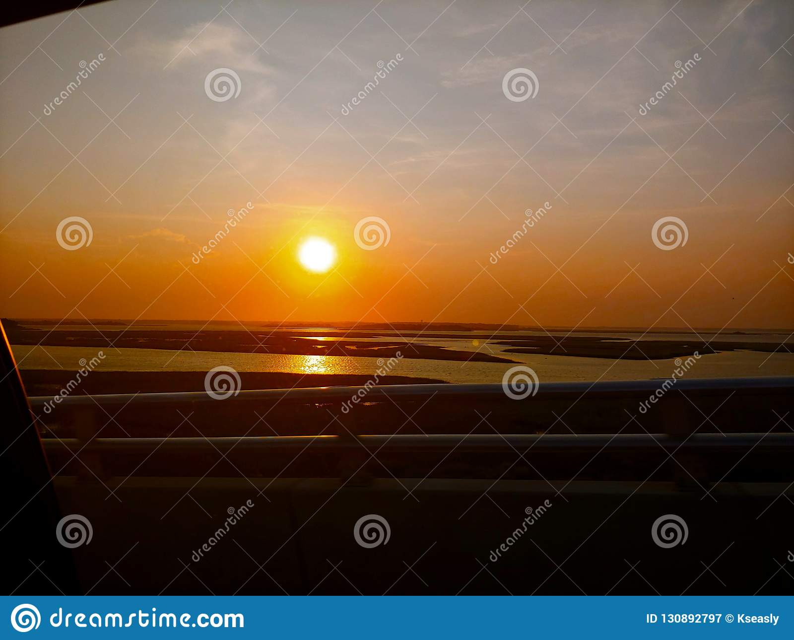 Emerald Isle-zonsondergang