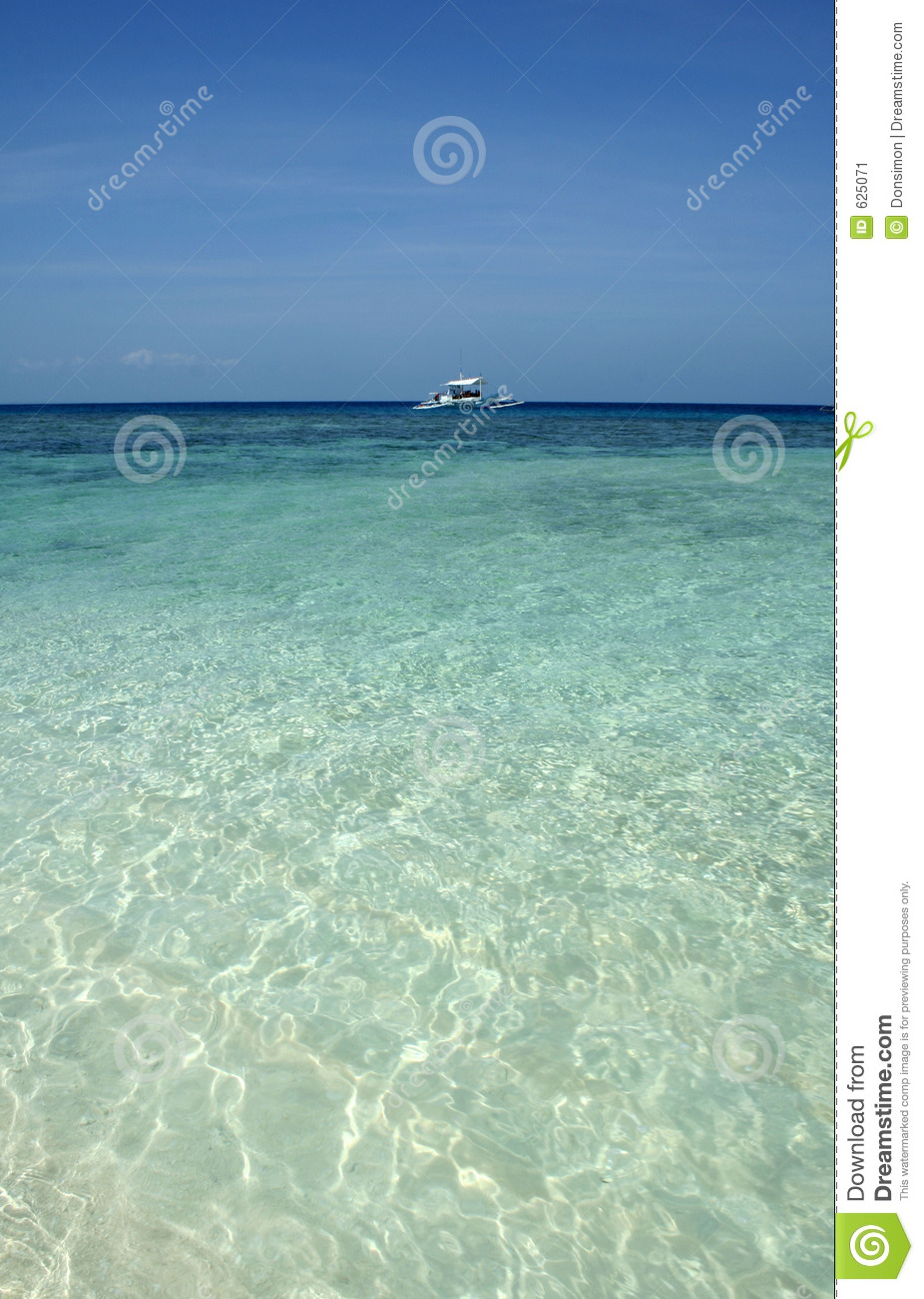 Emerald Ocean Dive Boat Sulu Sea Philippines Stock Image - Image of copy, backgrounds: 625071