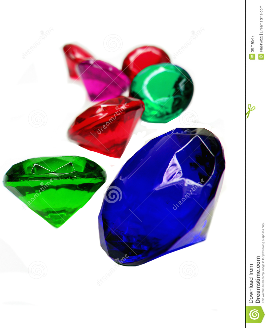 Emerald Sapphire Ruby Topaz Gem Stones Crystals Stock ...
