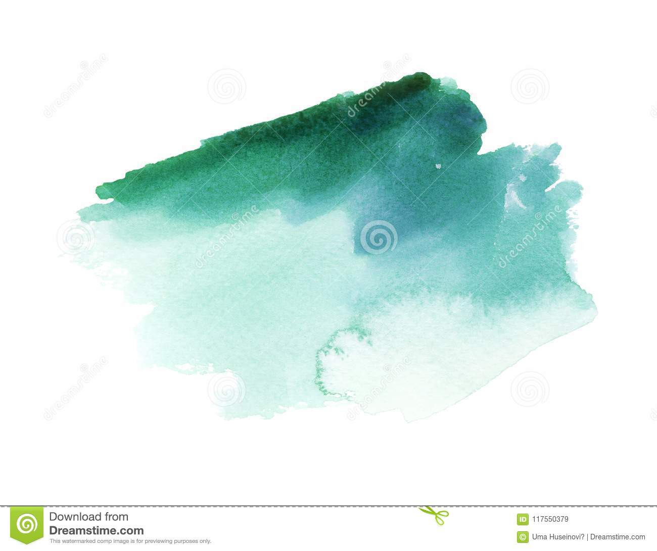 Emerald Watercolor Stain oscuro