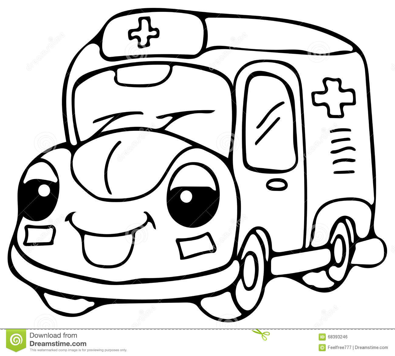 Cute Car Coloring Page Illustration For Kids - Coloring ...