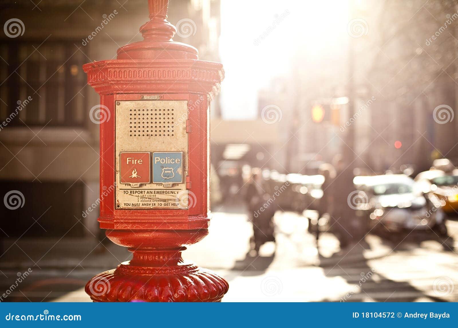 Emergency box in New York