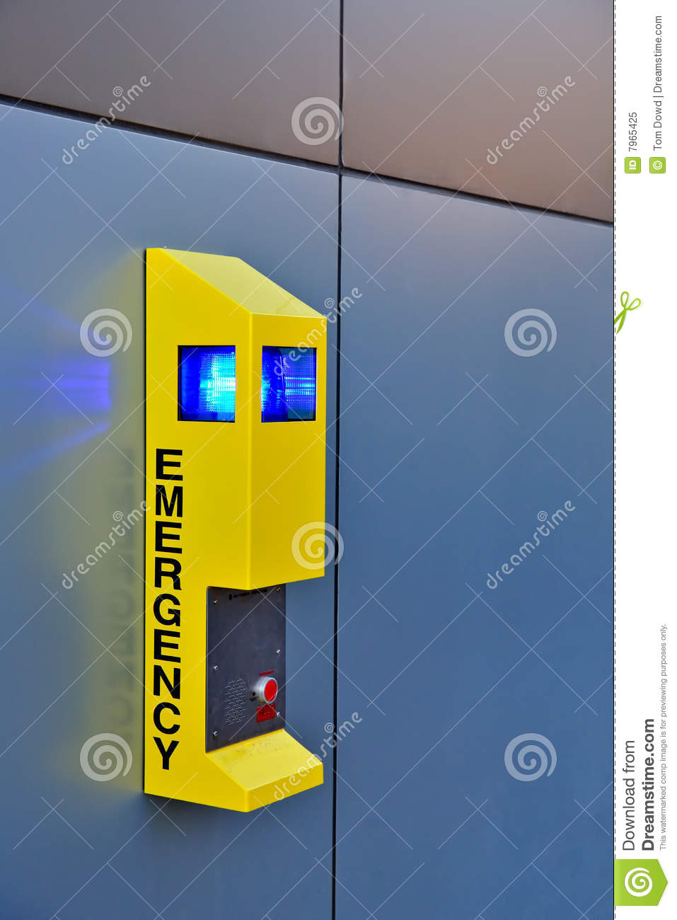 Emergency Call Box Royalty Free Stock Photo Image 7965425