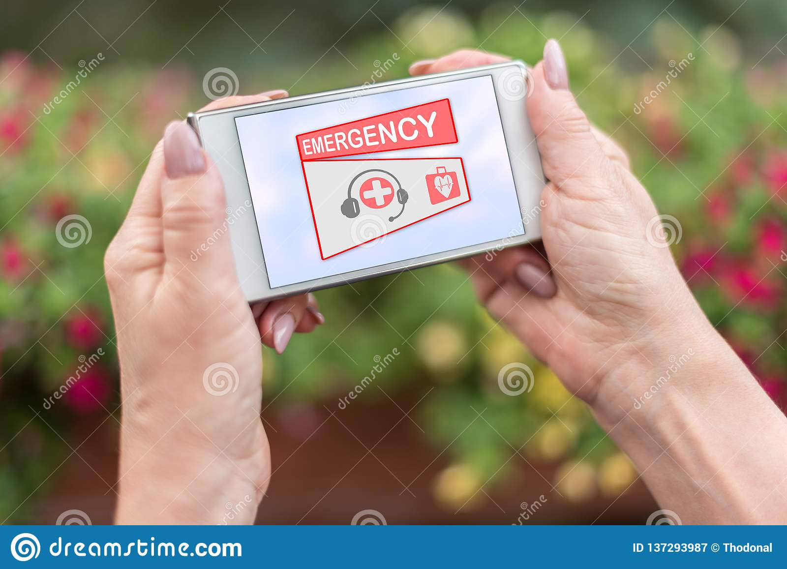 Emergency concept on a smartphone