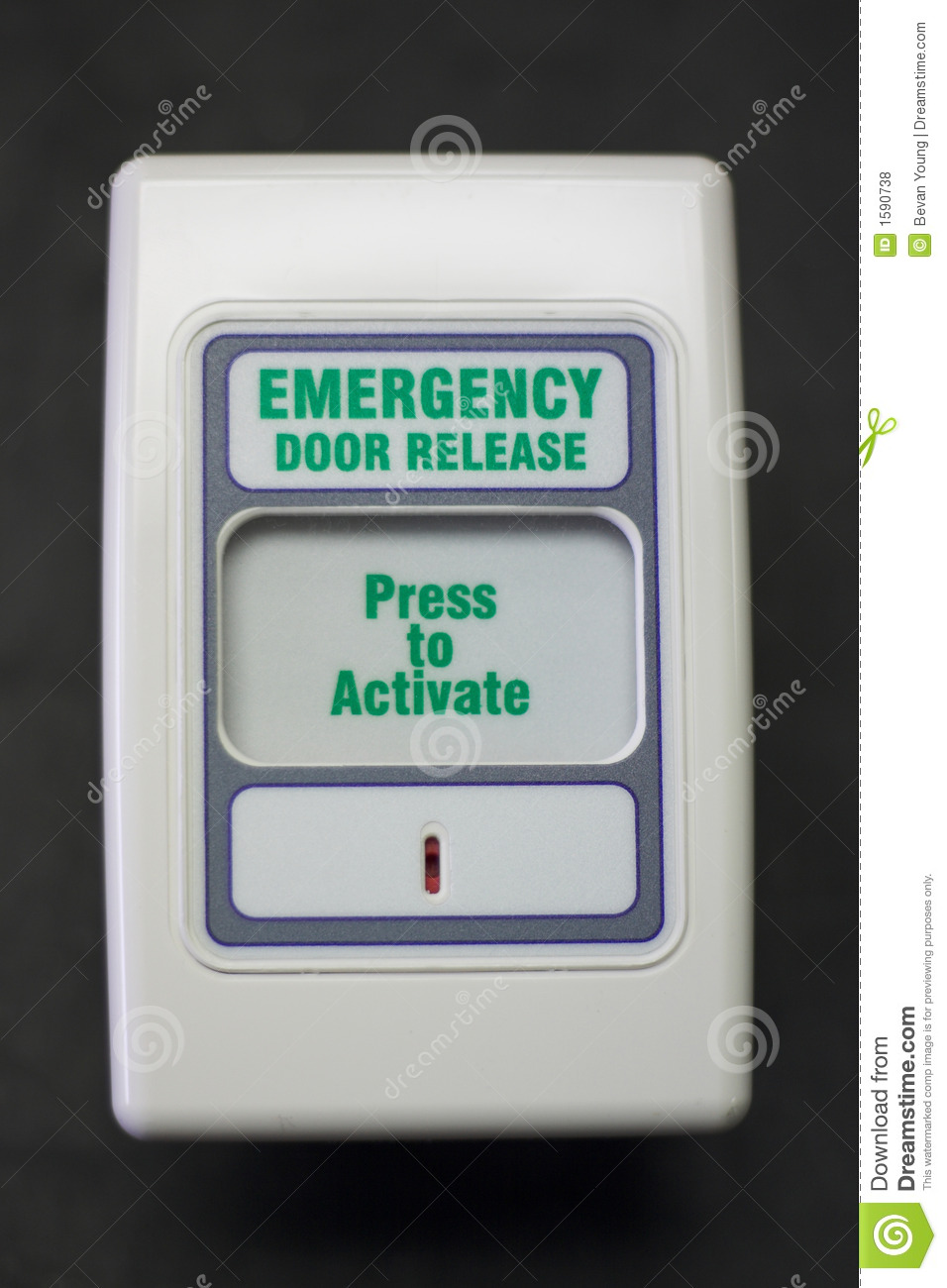 Emergency Door Release Royalty Free Stock Photos Image