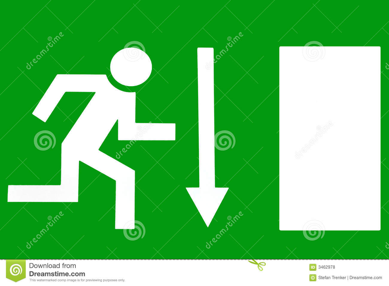 Emergency Exit Escape Route Royalty Free Stock Photos