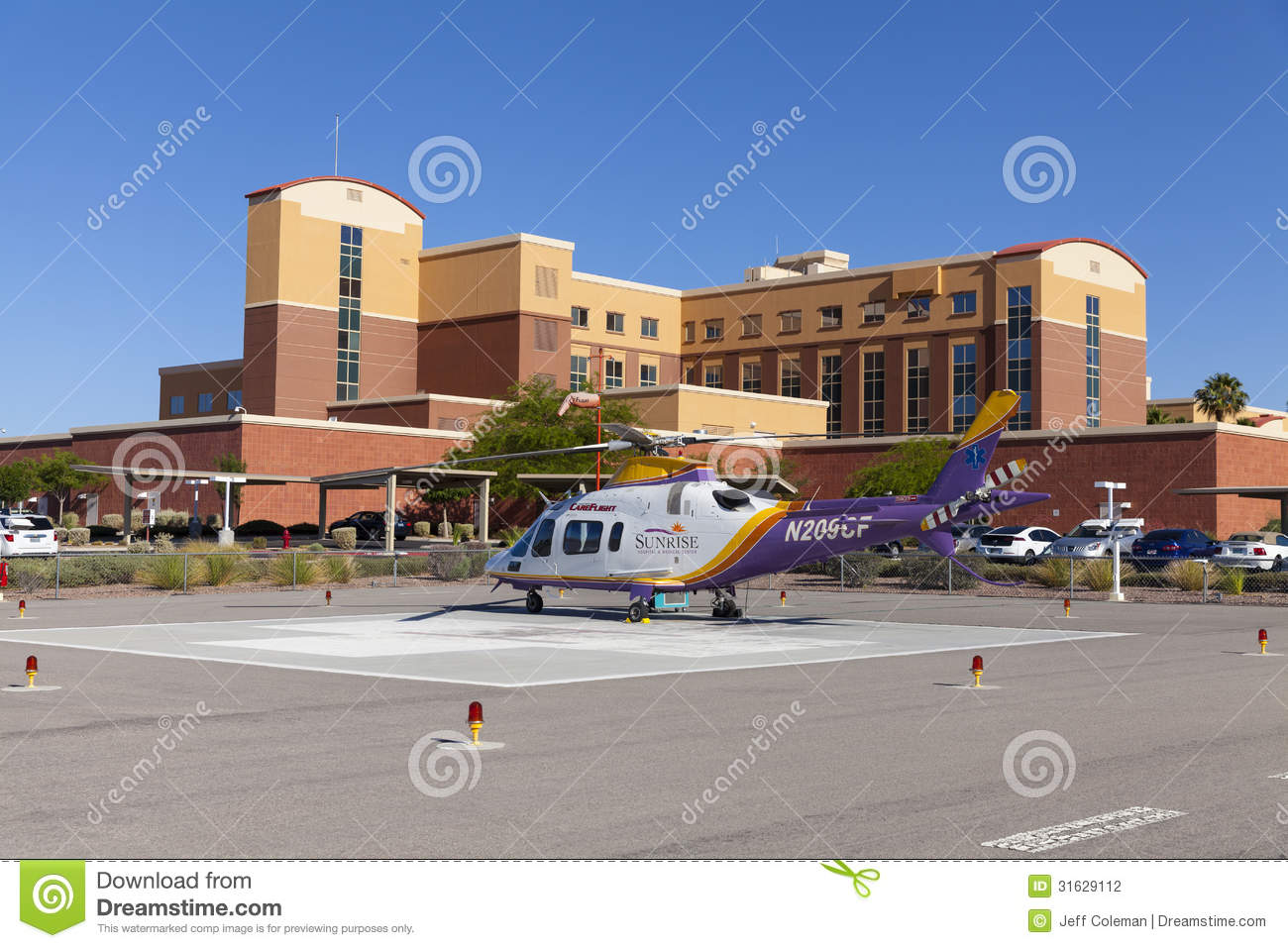 Emergency Helicopter At Southern Hills Hospital In Las ...